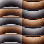 Abstract paneling pattern - waves decoration - leather texture — Stock Photo