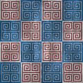 Abstract paneling pattern - seamless pattern - blue-white - wood — Stock Photo