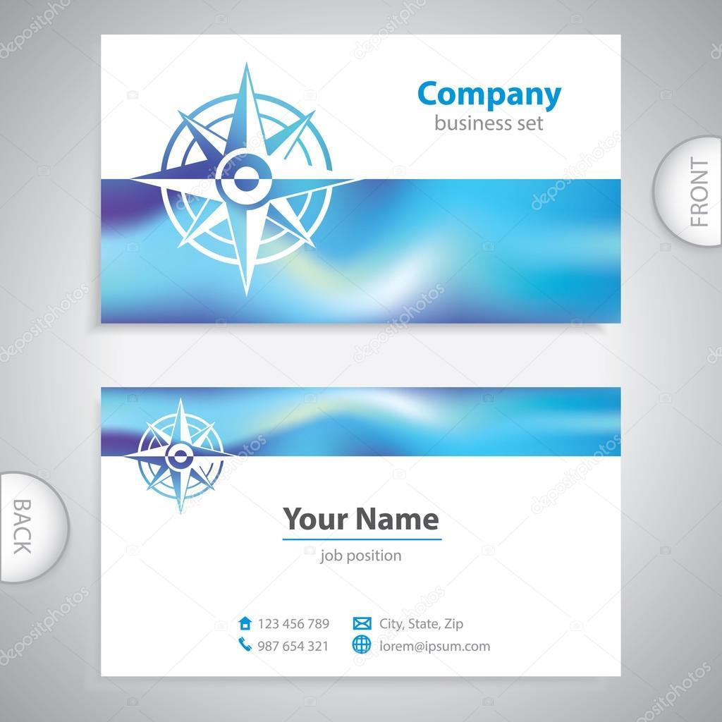 Marine Business Cards Business Card Wind Rose