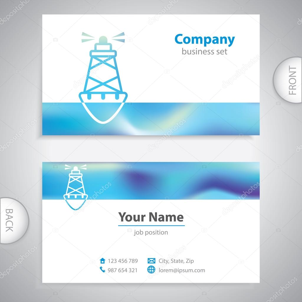 Marine Business Cards Business Card Sea Buoys
