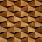 Abstract decorative bricks - seamless background - wooden textur — Stock Photo