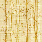Abstract decorative trees - seamless pattern - papyrus texture — Stock Photo
