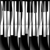 Abstract musical piano keys - seamless background - monochrome b — Stock Photo