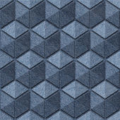 Checkered pattern - seamless pattern - blue jeans texture — Stock Photo