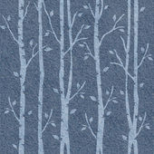 Abstract decorative trees - seamless pattern - blue jeans cloth — Stock Photo