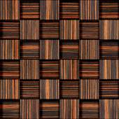 Abstract checkered pattern - seamless background - Ebony wood — Stock Photo