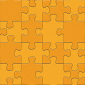 Abstract puzzles pattern - seamless background - orange texture — Stock Photo