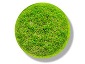 Green grass surface ground world circle — ストック写真