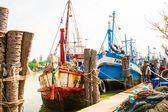 Thailand - January 21 :fish market in fishing village, Nakhon Si — ストック写真