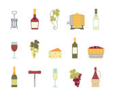 Set of wine icons — Stock Vector