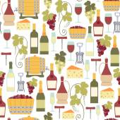 Seamless pattern with wine icons — Stock Vector