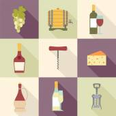 Wine icons — Stock Vector