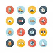 Adventure traveling icons — Stock Vector