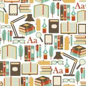 Seamless pattern with books icons — Vetorial Stock