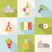 Icons for travelling in Italy — Stock Vector