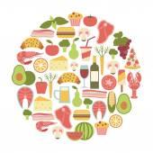 Summer food festival. — Stock Vector
