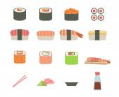 Set of sushi icon — Stock Vector