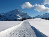 Ski slope on the Wispile, Spitzhorn — Stock Photo