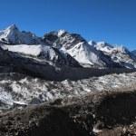 Khumbu Glacier, view from Gorak Shep — Stock Photo #75628265