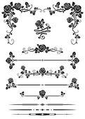Decorative elements background — Stock Vector