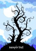 Whimsical tree with space — Stock Vector