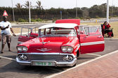 Restored Chevrolet on Display at Beachfront in Durban South Afri — Foto de Stock