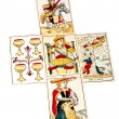 Tarot Cards Set Out in Five Spread — Fotografia Stock  #58847191