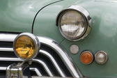 Closeup of Grille and Lights of Restored Classic Car — Stock Photo