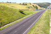 Double Lane Highway Disappearing into the Distance — Stock Photo