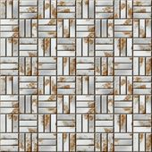Seamless illustration of a ancient tiled floor from natural material. — 图库照片