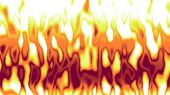 Detailed animation of red yellow flames in fire background — Stock Photo
