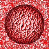 Colorful dangerous big bacterias or virus spheres in liquid — Foto Stock