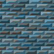 Textured blue bricks in wall as endless texture — Stock Photo #66653359