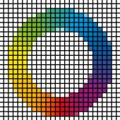 Mosaic of rainbow colors spectrum circle — Fotografia Stock