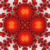 Popular fractal ornaments in white background. — Stock Photo