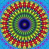 Rijke illustratie van kleurrijke mandala ornament — Stockfoto
