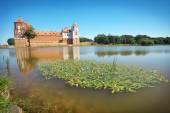 Castle in town Mir of Belarus. Medieval Mir castle — Stock Photo