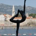 Statue of dancing girl,  Budva — Stock Photo #64521507
