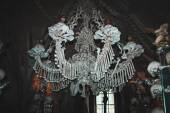 Chandelier made on natural human bones. Kutna Hora. Czeh Republic. — Stock Photo