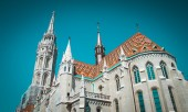 Old building of European church, Hungary. Budapest. — Stockfoto