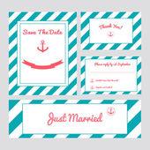 Set of wedding cards — Stock Vector