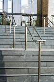 Stainless steel railings — Stock Photo