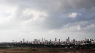 Tel Aviv and  Ramat Gan. — Vídeo de stock