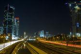 Tel Aviv  Skyline at night — Stock Photo