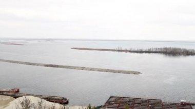 Dnieper river. — Stock Video