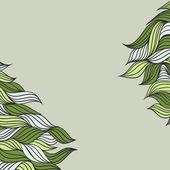 Gröna blad — Stockvektor