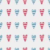 Pattern with hearts — Stock Vector