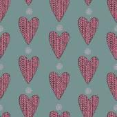 Knitted heart pattern — Vecteur