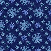 Watercolor snowflakes — Vector de stock