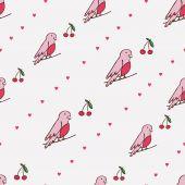 Птица и Черри — Cтоковый вектор